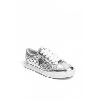 GUESS BRYLY LOW-TOP SNEAKERS - silver