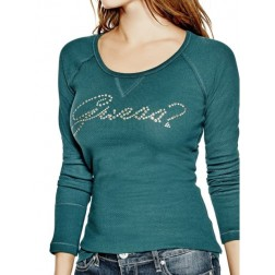 GUESS Janine Long-Sleeve Top - cool