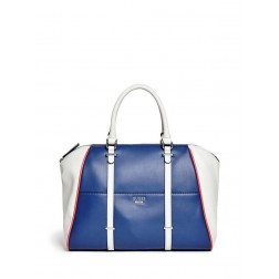 GUESS kabelka Claire Maine Color-Blocked Satchel modrá