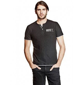 GUESS Factory Men's Boyd Heathered Henley