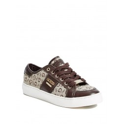 Guess boty Blume Low-Top Sneakers hnědé