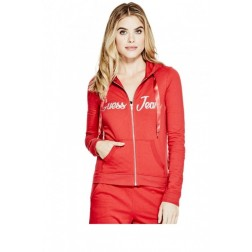 GUESS Asher Logo Hoodie - heartache red