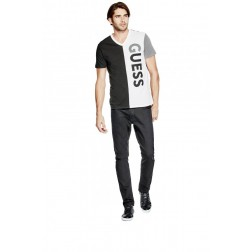 Guess tričko Men's Elroy Logo V-Neck Tee